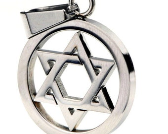 david star pendant titaium