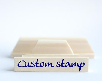 Custom stamp, Logo stamp, Personalized text stamp 3/5 x 3 inches / 1.5 x 7.5 cm