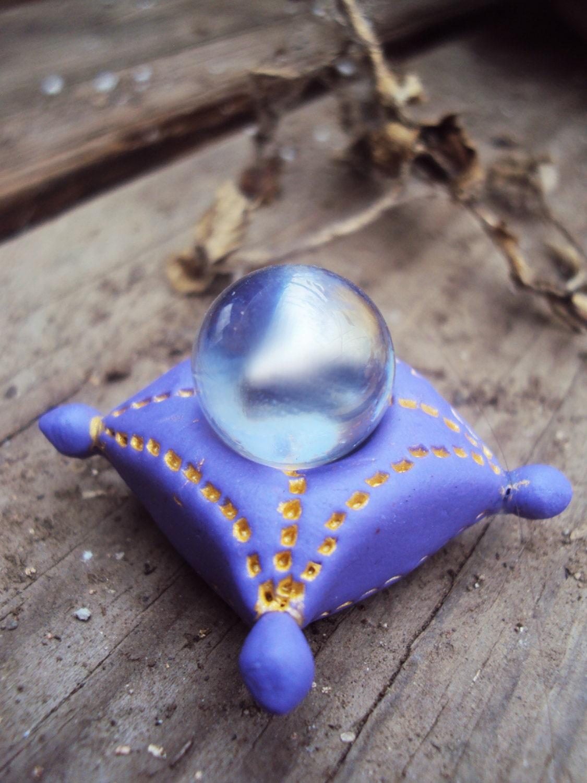 Crystal Ball Fairy Garden Miniature Crystal Ball On A Pillow