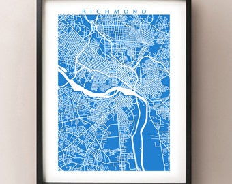 Richmond Map Print - Virginia Poster Art