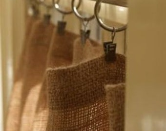 Burlap Curtain Panel 52'' -  Choose a length