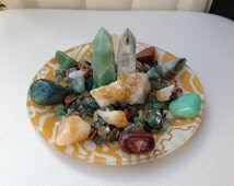 PROSPERITY ABUNDANCE CRYSTAL Healing House Kit  **Gorgeous Petite Yellow plate design**