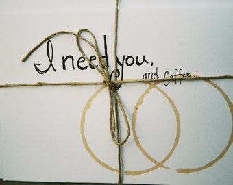 Greeting cards, Handmade Cards, coffee,hand drawn cards,just because, i love you, blank cards, every occation cards,
