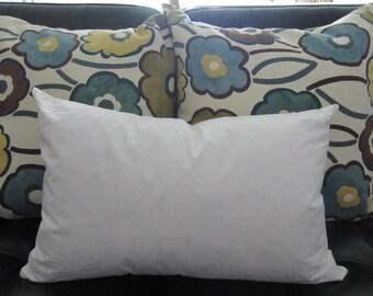 12x36 Inches Feather/Down Pillow Form, Insert Oblong, Lumbar Pillow Insert,  Decorative