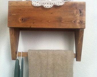 Primitive Wooden tool box shelf