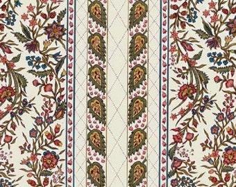 Dutch Chintz Border Fabric - Provence Ecru - half (1/2) yard