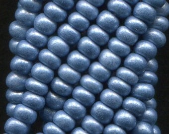 10/0 Blue Soft Rocailles Czech Glass Seed Beads - Available In: 1/2-1-4-8-12 Hank Qtys - 2.3 mm.