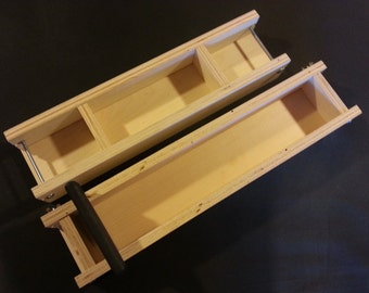 5 Lb Adjustable SOAP MOLD and Bar CUTTER, Cold Process Loaf Molds  Wooden Wood