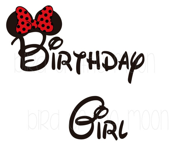 Items similar to Birthday GIRL Minnie Mouse Mickey Mouse DIY Printable ...