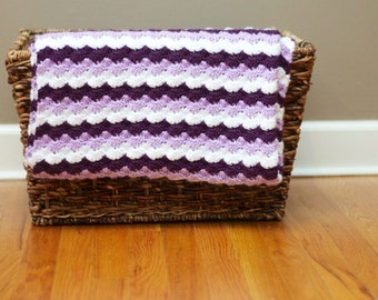 Crochet Shell Stitch Afghan - Child Size