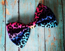 Unique Rainbow Hair Bow Related Items Etsy