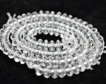 6mm Faceted Crystal Beads rondelles  15.5""
