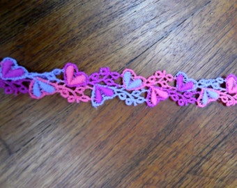 Fun and Funky Bright Hued Heart Trim