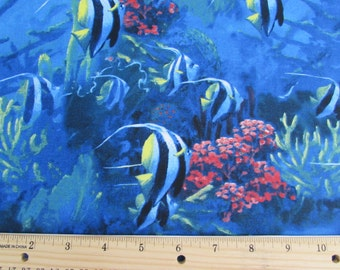 Per yard, fish coral reef fabric From VIP