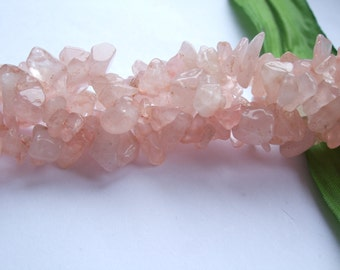 Natural Rose Quartz Chip Beads 5mm - 36 Inch Strand, Craft Supplies, Beads, UK Seller (GB1013)