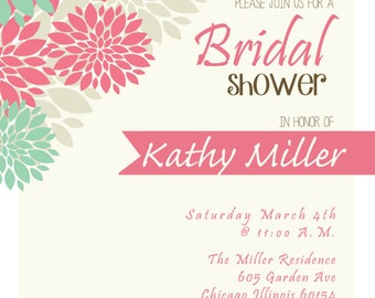 Bridal Shower Invitation (DIgital Print File)