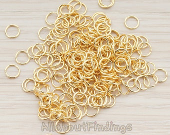 BSC107-G // Glossy Gold Plated Jumpring, Approx 24 gauge, 200 Pc