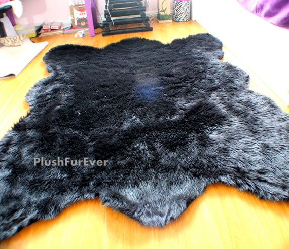Bear Faux Fur Rug by PlushFurever