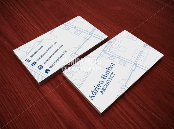 Business Cards Interior Design printable architect business card template/ interior designer