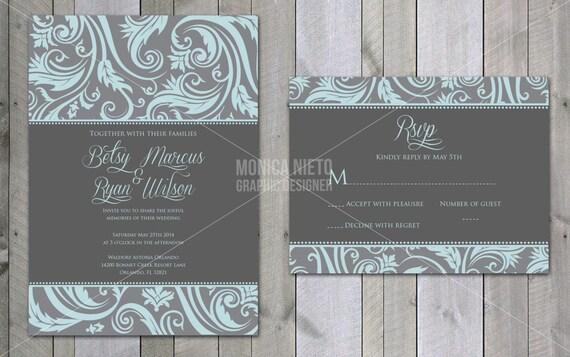 Customizable Wedding Invitation Templates: Printable Custom Victorian Wedding Invitation Template