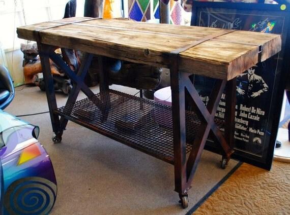 Custom Made Reclaimed Wood Sofa Table Console Table Buffet Table ...