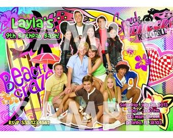Teen Beach Movie Invitation - Printable Birthday Party Movie Invite - Custom Personalized You-Print Digital Photo Card 4x6 or 5x7