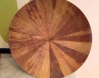 Melamine Plates Set of 4 Faux Wood Never Used