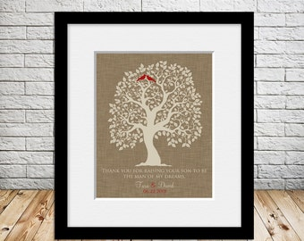 Grooms Parents Wedding Thank You Gift, Mother of the Groom, Father of the Groom, Wedding Gift, Thank You For Raising Your Son Print
