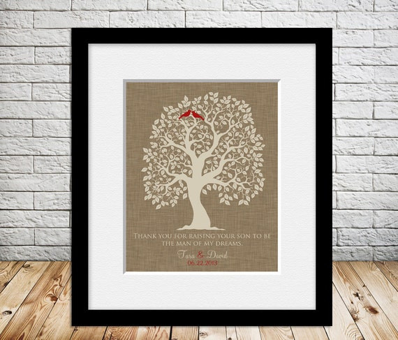 Wedding Gift From Parents To Son : Grooms Parents Wedding Thank You Gift Mother of the Groom