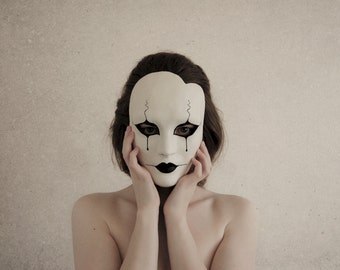 Pierrot Masquerade Mask - Made to Order