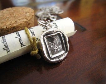 Lyre of Hermes Wax Seal Necklace