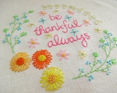 Be thankful always - Hand Embroidery Pattern - PDF