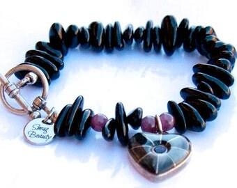Black-Hearted Bracelet