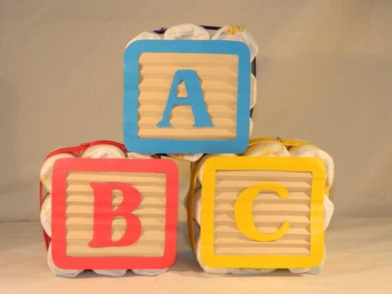 Diaper Blocks Mini Diaper Cake ABC 3 block by ...