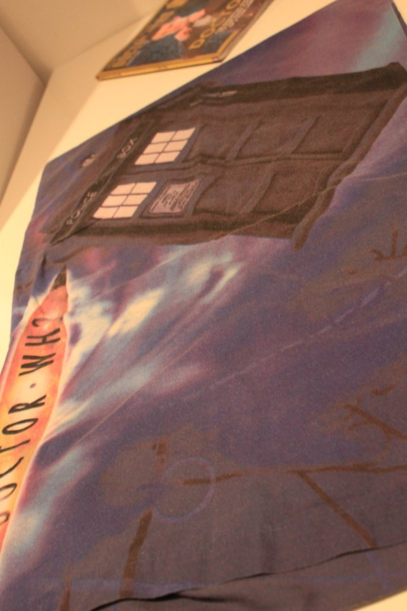 Dr Who Single Duvet Cover with the Tardis, Daleks and Cyberman with 2 pillowcases  Upcycling Material