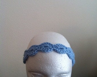 Headband (light blue),  woman's headband, child headband, tie headband