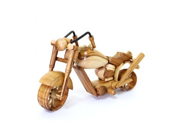 Wooden Toy Motorcycle 03 in Handmade