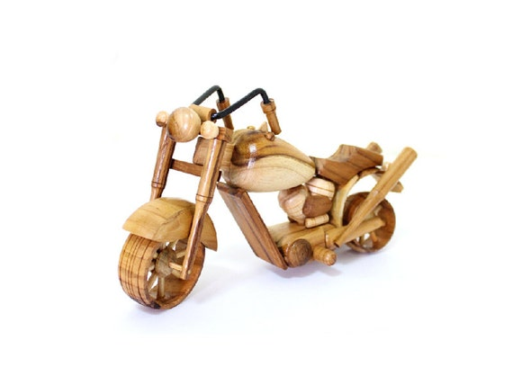 Wooden Toy Motorcycle 03 in Handmade by MoreThanWoodShop on Etsy