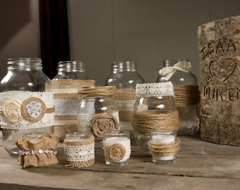 HUGE Country Rustic Chic Wedding Decor Set - Everything You Need! Free Shipping