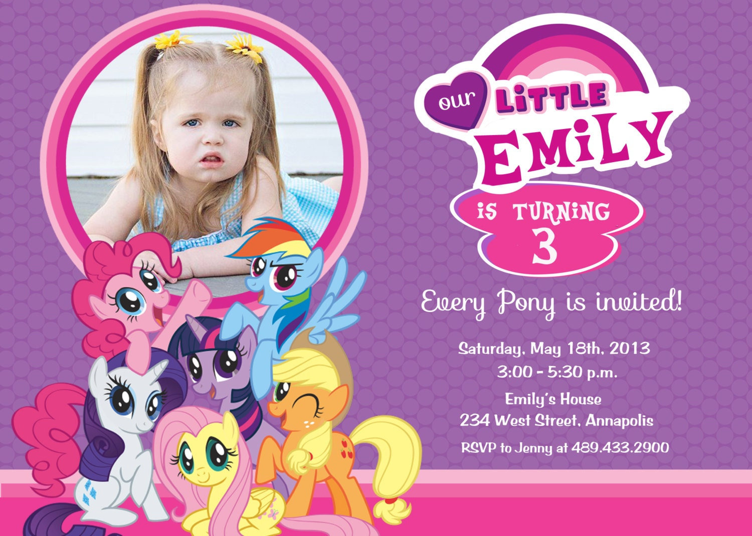 My Little Pony Personalized Birthday Invitations is perfect invitation ideas