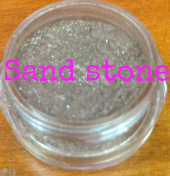 sand stone a light tan color with gold glitter Natural Mineral Eyeshadow Mica Pigment 5 Grams