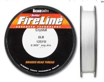 "Fireline Crystal 8LB 125 YDS  0.009""  Braided Bead Thread"
