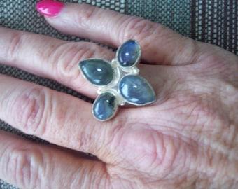 Labradorite Ring Size 6-1/2