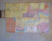 1929 Antique Chinese map of shanghai