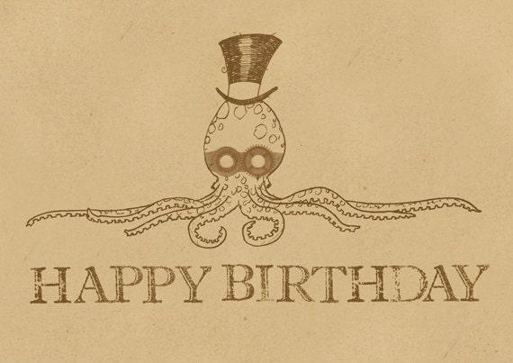 Happy Birthday Balboa – Steampunk Birthday Card