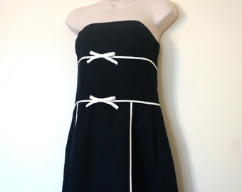 Black Strapless Dress / Little Black Dress / LBD