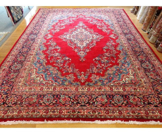 Persian Rug 9 X 11 10 Kazvin Oriental Rug Large Red