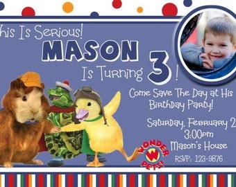 Wonder Pets Birthday Invitation -  You Print - Digital  4x6 or 5x7