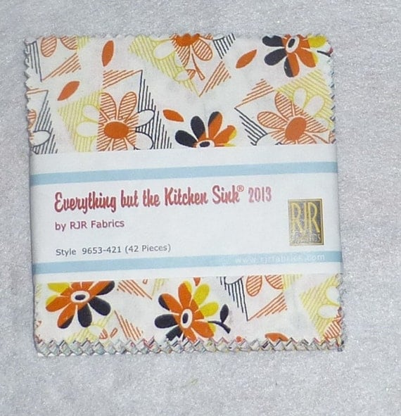 everything but the kitchen sink fabric everything but the kitchen sink by rjr fabrics charm pack 9649