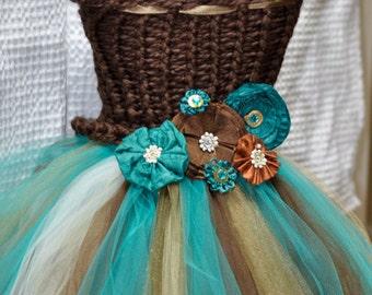 Teal Flower Girl Dress Special Occasion Dress Pageant Dress Recital Dress